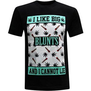 tees geek Graphic Tshirt 1 I Like Big Blunts Men's Funny T-Shirt