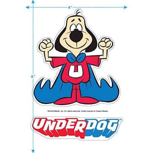 Popfunk Graphic Tshirt 3 Underdog Flying Logo Retro Cartoon T Shirt & Stickers