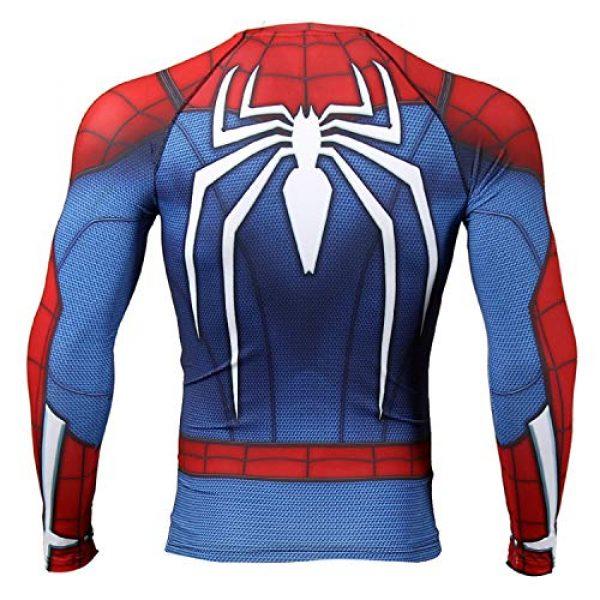 COOLMAX Graphic Tshirt 2 Raglan Sleeve Spiderman 3D Printed T Shirts Men Compression Shirts