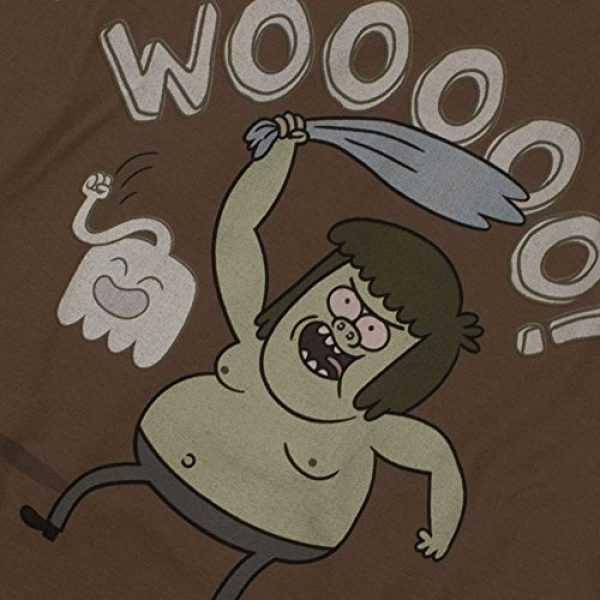 Popfunk Graphic Tshirt 5 Regular Show Muscle Man Cartoon Network T Shirt & Stickers