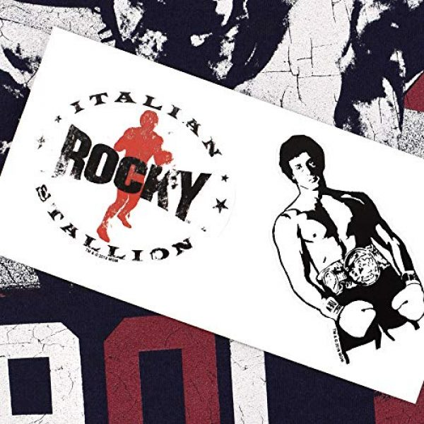 Popfunk Graphic Tshirt 6 Rocky Movie Sylverster Stallone American Flag T Shirt & Stickers