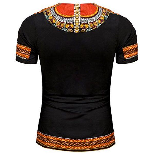 Shenbolen Graphic Tshirt 2 Men's African Print Shirt Dashiki Fashion T-Shirt Tops