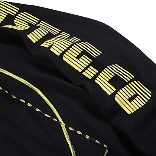 NAGRI Graphic Tshirt 5 ASAP Rocky Testing Long Sleeve Tshirt Injured Generation Tour Hip Hop Letter Printed Graphic Hoodie Black