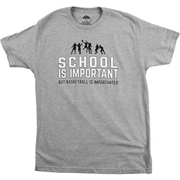 Ann Arbor T-shirt Co. Graphic Tshirt 1 School is Important but Basketball is Importanter | Funny Sports Unisex T-Shirt