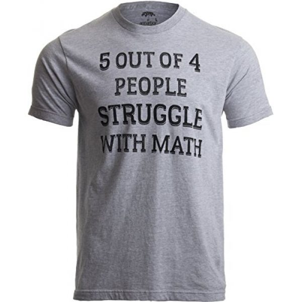 Ann Arbor T-shirt Co. Graphic Tshirt 1 5 of 4 People Struggle with Math | Funny School Teacher Teaching Humor T-Shirt