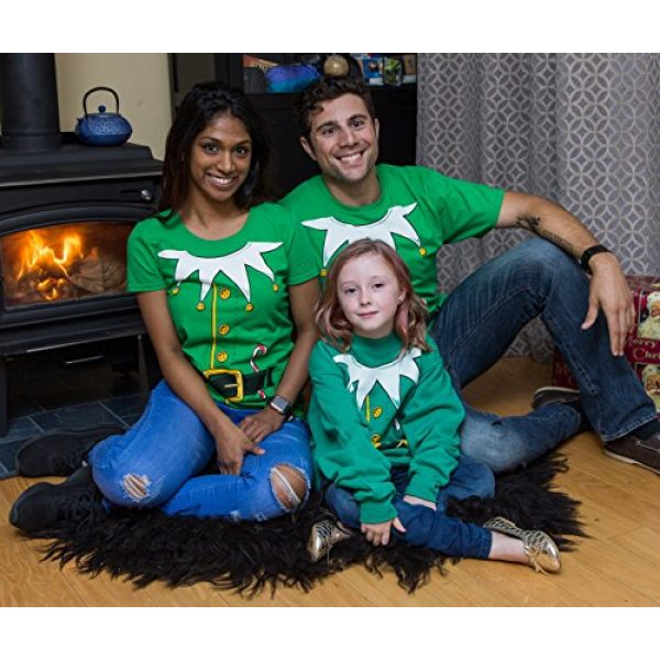 Ann Arbor T-shirt Co. Graphic Tshirt 5 Santa's Elf Costume | Jumbo Print Novelty Christmas Holiday Humor Unisex T-Shirt