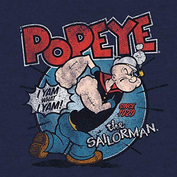 Tee Luv Graphic Tshirt 2 Popeye The Sailorman T-Shirt - I Yam What I Yam Popeye Cartoon Shirt