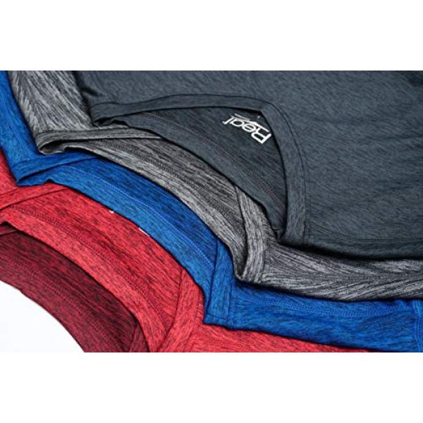 Real Essentials Graphic Tshirt 2 5 Pack: Mens V-Neck Dry-Fit Moisture Wicking Active Athletic Tech Performance T-Shirt