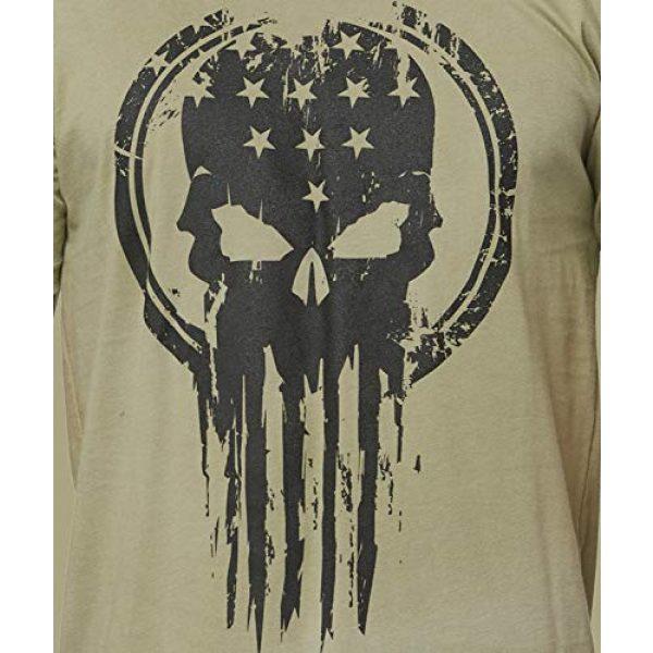 THREE VIKINGS Graphic Tshirt 5 Premium Men's American Freedom T-Shirts - Patriotic Tees - USA Tactical Flag