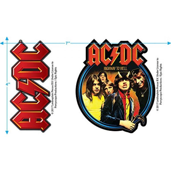 Popfunk Graphic Tshirt 3 ACDC Let There Be Rock Album T Shirt & Stickers