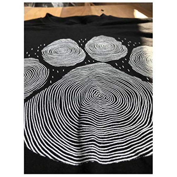 Ann Arbor T-shirt Co. Graphic Tshirt 5 Paw Print Line Art   Artistic Illustration Nature Men Women Dog Cat Cool T-Shirt