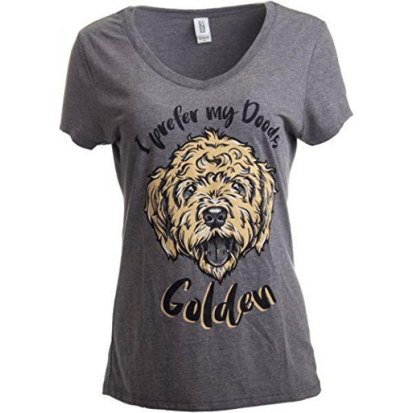 Ann Arbor T-shirt Co. Graphic Tshirt 1 I Prefer My Doods Golden   Funny Goldendoodle Golden Doodle Dog V-Neck T-Shirt