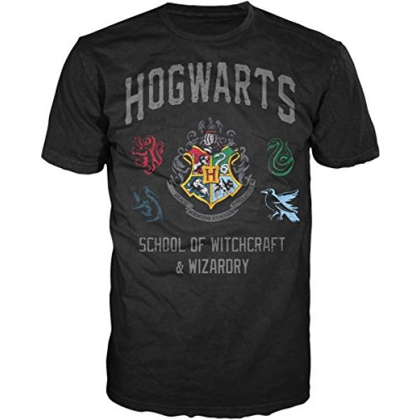 Harry Potter Graphic Tshirt 1 Hogwarts Crest Witchcraft and Wizardry Men's Adult Graphic Tee T-Shirt