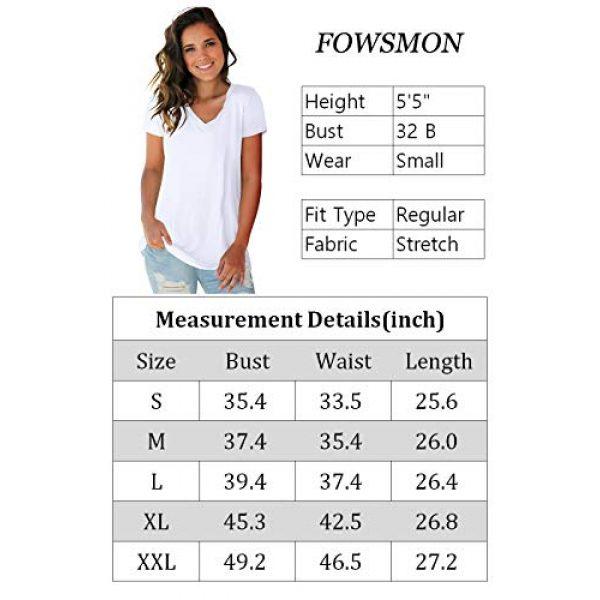FOWSMON Graphic Tshirt 5 Women's Casual V Neck Short Sleeve Tops Basic Summer T Shirts