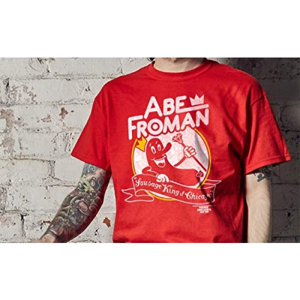 Ripple Junction Graphic Tshirt 2 Ferris Bueller's Day Off Adult Unisex Abe Froman Heavy Weight 100% Cotton Crew T-Shirt