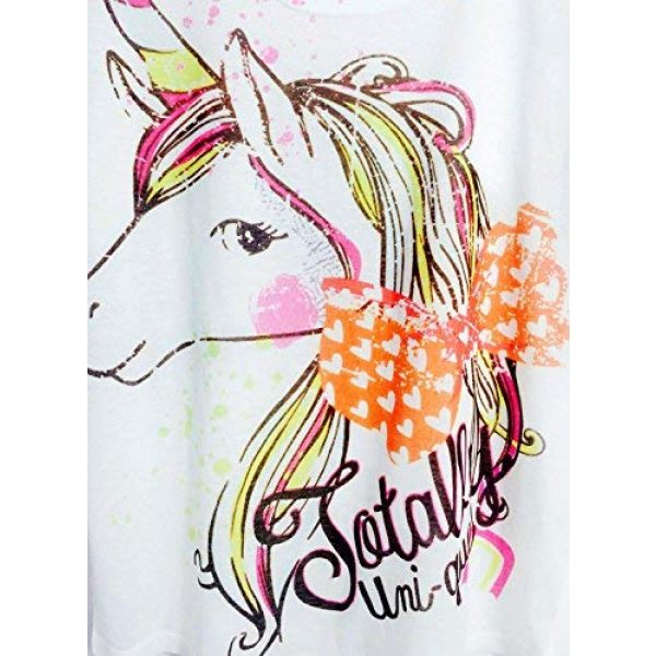 futurino Graphic Tshirt 6 Women's Summer Colorful Bow Tie Unicorn Print Short Sleeve T-Shirt Tops