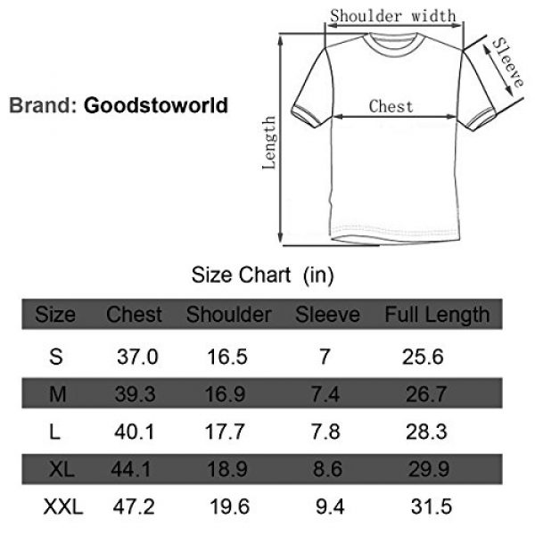 Goodstoworld Graphic Tshirt 7 Unisex Personalized Novelty 3D Printed T-Shirts Short Sleeve Tops Tees
