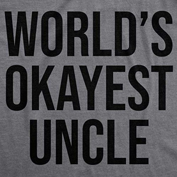Crazy Dog T-Shirts Graphic Tshirt 2 Worlds Okayest Uncle T Shirt Funny Saying Family Graphic Funcle Sarcastic Tee