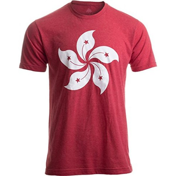 Ann Arbor T-shirt Co. Graphic Tshirt 1 Hong Kong Flag | Bauhinia Orchid Flower HK China Poster Art Kowloon Asia T-Shirt