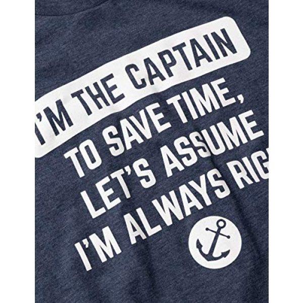 Ann Arbor T-shirt Co. Graphic Tshirt 5 I'm The Captain, Assume I'm Right | Funny Boating Nautical Joke Boat Humor T-Shirt for Men Women