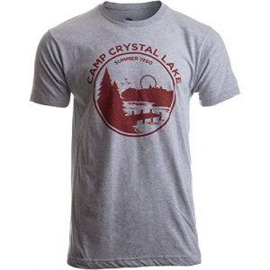 Ann Arbor T-shirt Co. Graphic Tshirt 1 1980 Camp Crystal Lake Counselor | Funny 80s Horror Movie Fan Humor Joke T-Shirt