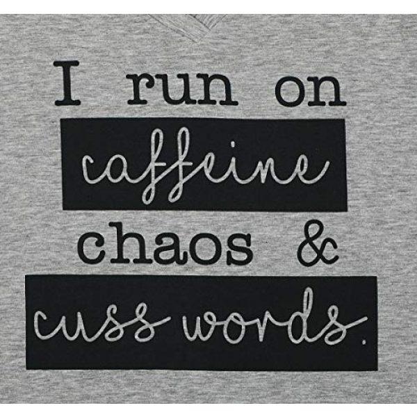 MAXIMGR Graphic Tshirt 4 I Run On Coffee Chaos Cuss Words T Shirt Women Funny Short Sleeve T-Shirt Mom Gift