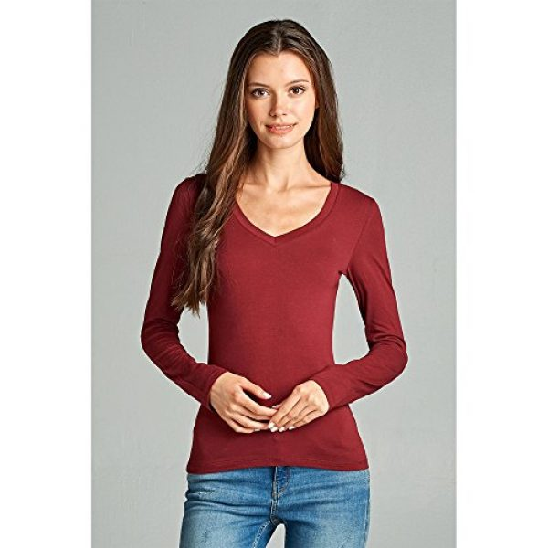 Emmalise Graphic Tshirt 4 Women's Junior and Plus Size Vneck Tshirt Long Sleeves Shirt Tee