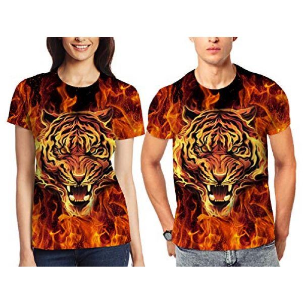 Goodstoworld Graphic Tshirt 4 Unisex Personalized Novelty 3D Printed T-Shirts Short Sleeve Tops Tees