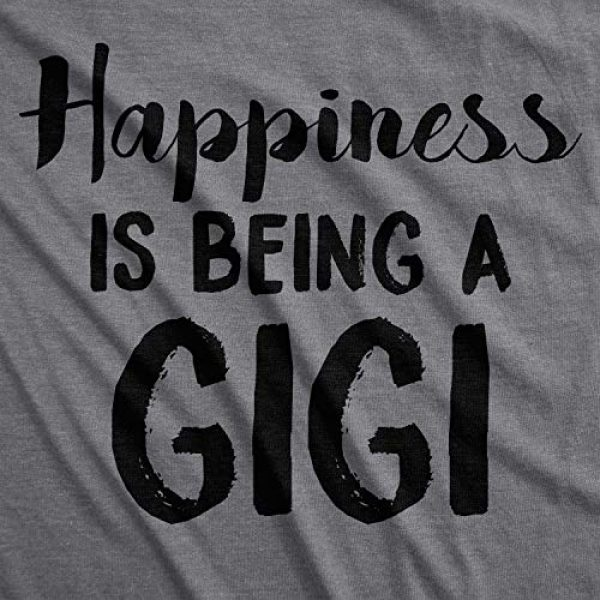 Crazy Dog T-Shirts Graphic Tshirt 2 Womens Happiness is Being A Gigi T Shirt for Grandma Funny Grandmother