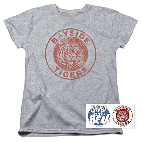 Popfunk Graphic Tshirt 2 Saved by The Bell Bayside Tigers Women's T Shirt & Stickers