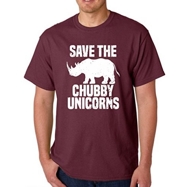 AW Fashions Graphic Tshirt 1 Save The Chubby Unicorn - Funny Quote Tees Hipster Men's T-Shirt