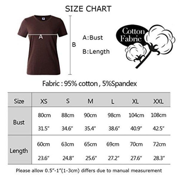 BLACKMYTH Graphic Tshirt 4 Women Summer Funny Print Short Sleeve Top Tee Graphic Cute T-Shirt