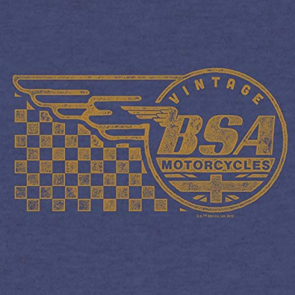 Tee Luv Graphic Tshirt 2 BSA Ringer T-Shirt - Vintage BSA Motorcycles Graphic Shirt