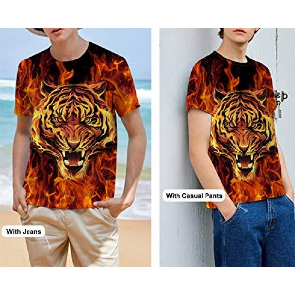 Goodstoworld Graphic Tshirt 3 Unisex Personalized Novelty 3D Printed T-Shirts Short Sleeve Tops Tees