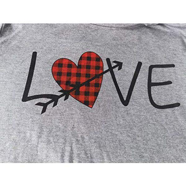 Popshion Graphic Tshirt 2 Valentine's Day Heart Printed T Shirt St. Patrick's Day Women Shamrock Blouse