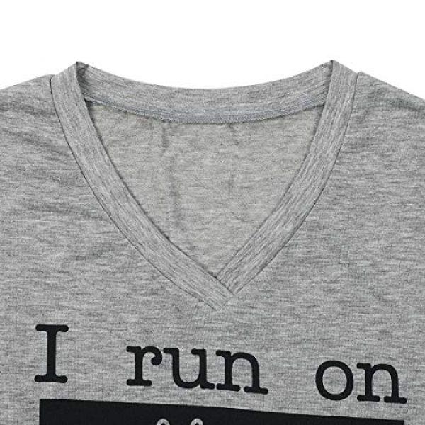 MAXIMGR Graphic Tshirt 5 I Run On Coffee Chaos Cuss Words T Shirt Women Funny Short Sleeve T-Shirt Mom Gift