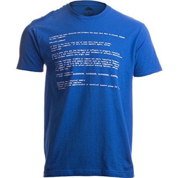 Ann Arbor T-shirt Co. Graphic Tshirt 1 Blue Screen of Death   Geeky Windows Error, Funny Computer Nerd Unisex T-Shirt