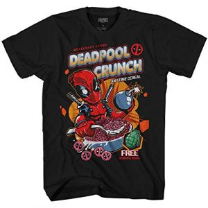 Marvel Graphic Tshirt 2 Deadpool Crunch Cereal Comics Funny Adult Tee Graphic T-Shirt for Men Tshirt Clothing Apparel