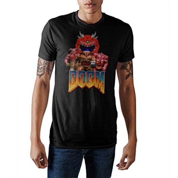 Bioworld Graphic Tshirt 1 Doom Vintage Characters Logo Men's Black Crew Neck Print T-Shirt