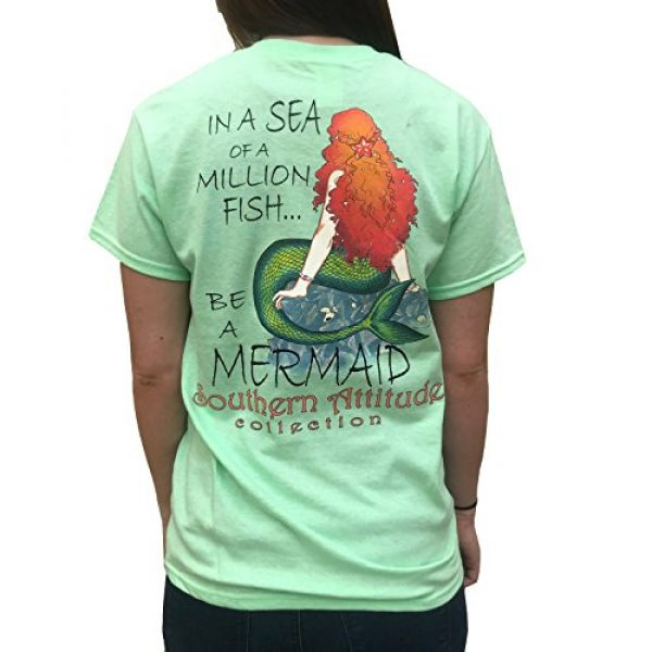 Southern Attitude Graphic Tshirt 1 in A Sea of A Million Fish Be A Mermaid Mint Women's Short Sleeve T-Shirt