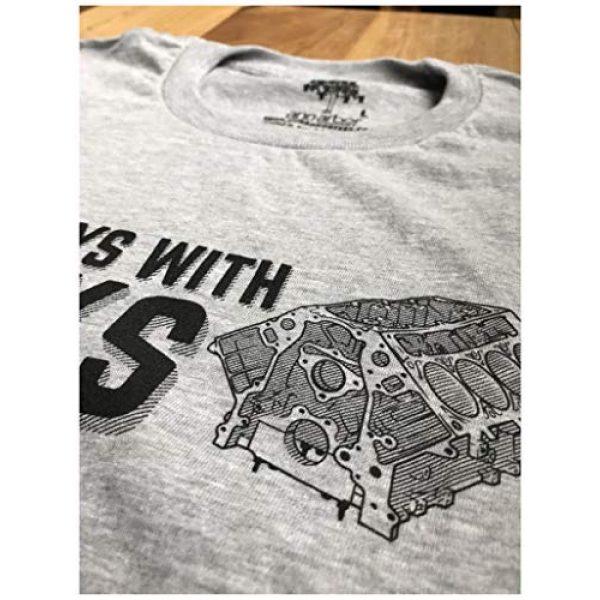 Ann Arbor T-shirt Co. Graphic Tshirt 5 Still Plays with Blocks   Funny Engine Mechanic Car Guy Truck Repair Men T-Shirt