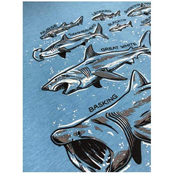 Ann Arbor T-shirt Co. Graphic Tshirt 5 Shark Species | Ocean Week Fan Theme Birthday Party Dad Mom Men Women T-Shirt