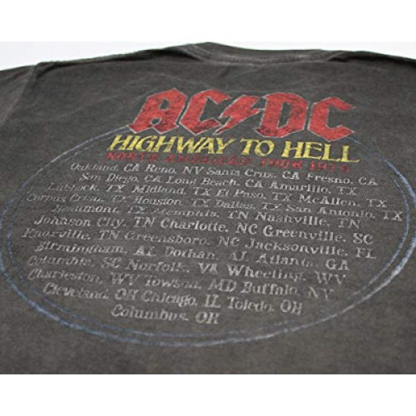 Seven Times Six Graphic Tshirt 5 ACDC Music Highway To Hell Circle Tour Distressed Mens T Shirt