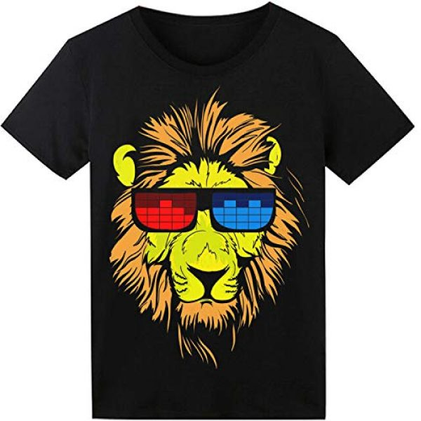 SOOOEC Graphic Tshirt 1 LED T Shirt Sound Activated Glow Shirts Light up Equalizer Clothes for Party