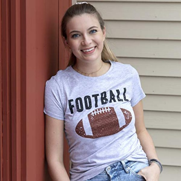 Crazy Dog T-Shirts Graphic Tshirt 3 Womens Vintage Football T Shirt Funny Sunday Game Day Tee for Ladies Graphci