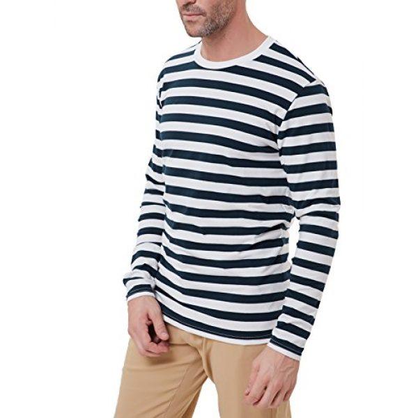 PJ PAUL JONES Graphic Tshirt 2 Men's Basic Striped T-Shirt Crew Neck Cotton Shirt