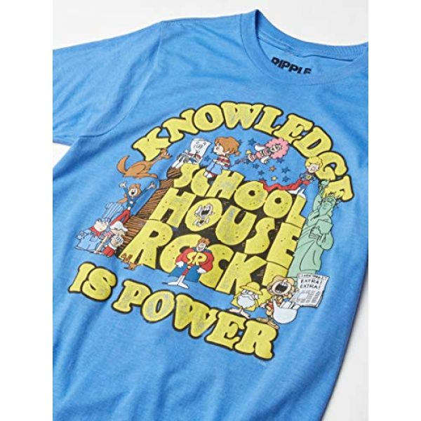 Ripple Junction Graphic Tshirt 2 Schoolhouse Rock Knowledge is Power Logo Group Adult T-Shirt