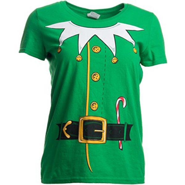 Ann Arbor T-shirt Co. Graphic Tshirt 4 Santa's Elf Costume | Jumbo Print Novelty Christmas Holiday Humor Ladies T-Shirt