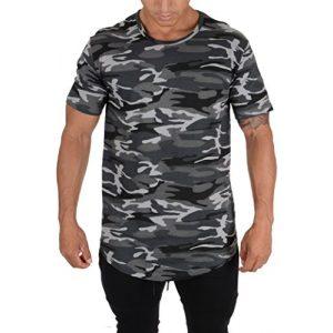 YoungLA Graphic Tshirt 1 Mens Long Cotton T Shirts Lightweight Muscle Tee 401