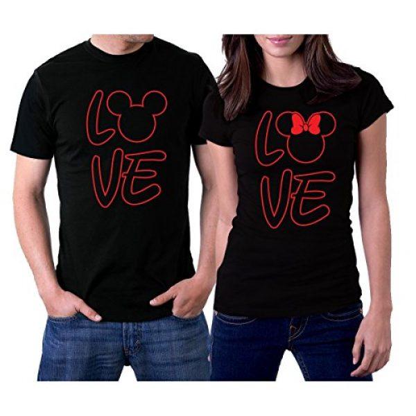 picontshirt Graphic Tshirt 1 Love MM Black Couple T-Shirts